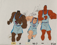 Scottie Pippen, Chris Mullins & David Robinson Signed 1992 Dream Team USA Nike Commercial 13x17 Original Animation Production Cel (JSA COA) at PristineAuction.com