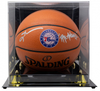 "Allen Iverson Signed 76ers Logo NBA Game Ball Series Basketball Inscribed ""The Answer"" With High-Quality Display Case (JSA COA) at PristineAuction.com"