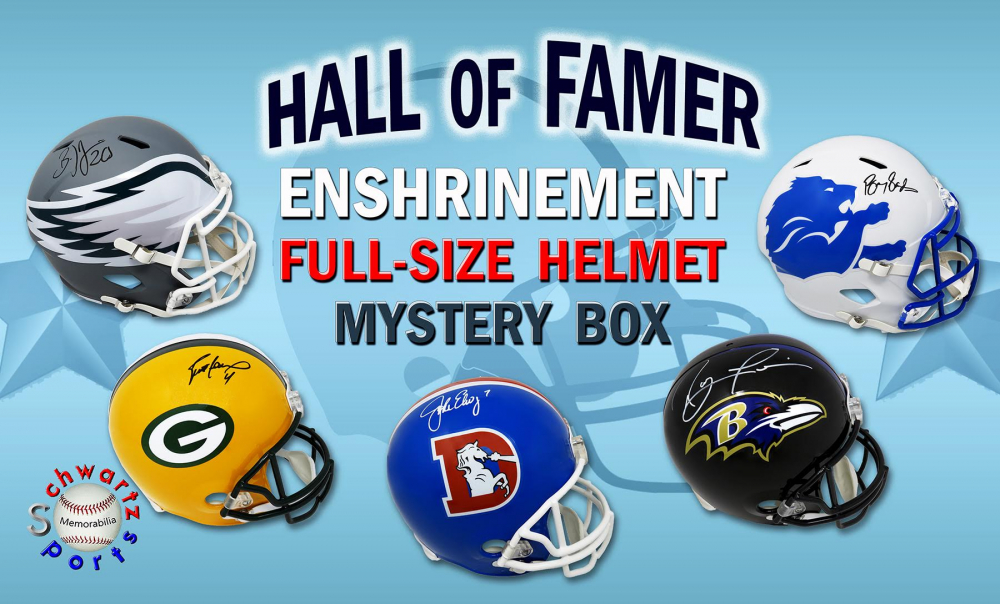 Football Hall of Famer Signed Full Size Helmet Enshrinement Mystery Box Series 3 (Limited to 75) at PristineAuction.com