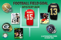 Schwartz Sports Football Field Goal Mystery Box - Series 1 (Limited to 100) (3 Autographed Items per Box) at PristineAuction.com