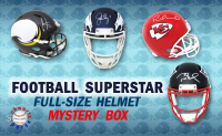 Schwartz Sports Football Superstar Signed Full Size Football Helmet Mystery Box – Series 9 (Limited to 100) at PristineAuction.com