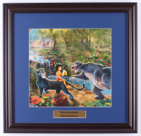 "Thomas Kinkade Walt Disney's ""The Jungle Book"" 18x18.5 Custom Framed Print Display at PristineAuction.com"