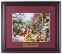"Thomas Kinkade Walt Disney's ""Snow White"" 16x18.5 Custom Framed Print Display at PristineAuction.com"