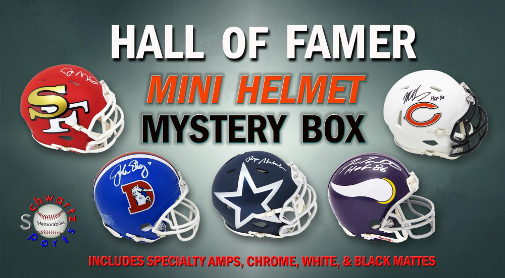 Schwartz Sports Football Hall of Famer Signed Mini Helmet Mystery Box - Series 6 (Limited to 100) at PristineAuction.com