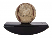 The Pride of the Yankees Baseball Cast-Signed by (9) with Babe Ruth, Eleanor Gehrig, Sam Wood, Walter Brennan (Beckett LOA) at PristineAuction.com
