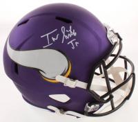 Irv Smith Jr. Signed Vikings Full-Size Speed Helmet (JSA COA) at PristineAuction.com