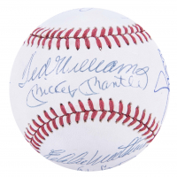 500 Home Run Club OAL Baseball Signed by (13) with Willie Mays, Mike Schmidt, Mickey Mantle, Ted Williams (Beckett LOA) at PristineAuction.com