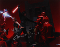 "Adam Driver & Daisy Ridley Signed ""Star Wars: The Last Jedi"" 16x20 Photo (Beckett COA) at PristineAuction.com"
