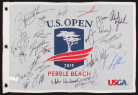 2019 U.S. Open Pin Flag Signed by (28) With Phil Mickelson, Justin Rose, Jordan Spieth, Justin Thomas (JSA ALOA) at PristineAuction.com
