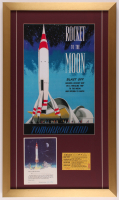 "Disneyland ""TWA"" 17x29 Custom Framed Print Display with Original TWA Ride Certificate & Ticket at PristineAuction.com"