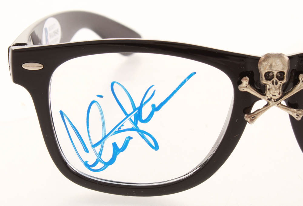 sheen signed major league thing glasses