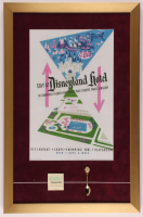 Disneyland Hotel 17x26 Custom Framed Print Display with Vintage Spoon & Matchbook at PristineAuction.com