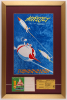 "Disneyland Tomorrowland ""Astrojet"" 17x26 Custom Framed Poster Print Display with Vintage Child Ticket & Portfolio at PristineAuction.com"