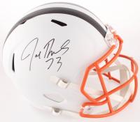 Joe Thomas Signed Browns Full-Size Matte White Speed Helmet (Schwartz COA) at PristineAuction.com