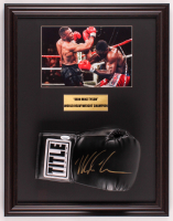 Mike Tyson Signed 17.5x22.5 Custom Framed Boxing Glove Display (JSA COA) at PristineAuction.com