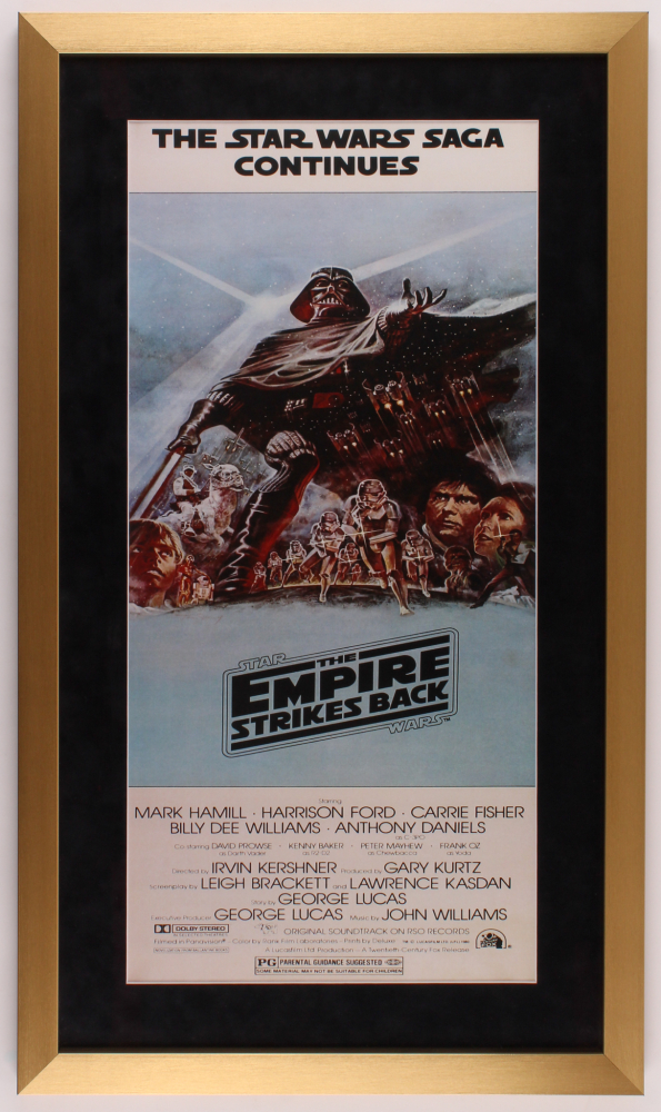 Star Wars Episode V The Empire Strikes Back 18x31 Custom Framed Movie Poster Print Display Pristine Auction