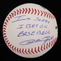"Pete Rose Signed OML Baseball Inscribed ""Sorry I Bet on Baseball"" (Fiterman Sports Hologram) at PristineAuction.com"