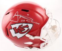 """Tyreek Hill Signed Chiefs Full-Size Speed Helmet Inscribed """"Chop Them Tomahawks"""" (JSA COA) at PristineAuction.com"""