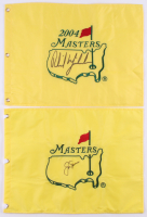 Lot of (2) Signed Masters Golf Pin Flags with Phil Mickelson & Jack Nicklaus (JSA ALOA) at PristineAuction.com