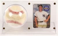 Mickey Mantle Signed OAL Baseball & Baseball Card Display (JSA ALOA) at PristineAuction.com