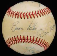 New York Yankees OAL Baseball Team-Signed by (6) with Mickey Mantle, Don Mattingly, Don Winfield, Lou Piniella, Dan Pasqua & Brain Fisher (JSA ALOA) at PristineAuction.com