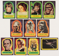 Complete Set of (11) 1977 Star Wars OPC Stickers with #1 Luke Skywalker, #2 Princess Leia Organa,  #3 Han Solo, #4 Chewbacca the Wookiee at PristineAuction.com
