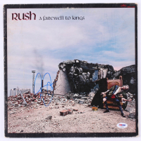 "Geddy Lee Signed Rush ""A Farewell to Kings"" Vinyl Record Album (PSA Hologram) at PristineAuction.com"