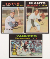 Lot of (3) 1971 Topps Baseball Cards with #5 Thurman Munson, #210 Rod Carew, & #325 Juan Marichal at PristineAuction.com