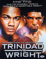 "Winky Wright Signed ""Trinidad vs. Wright"" 11x14 Photo (PSA COA) at PristineAuction.com"