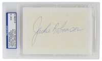 Jackie Robinson Signed 3x5 Cut (PSA Encapsulated) at PristineAuction.com