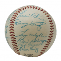 1956 Pirates ONL Baseball Team-Signed by (24) with Roberto Clemente, Frank Thomas, Dick Hall, Bill Virdon (Beckett LOA) at PristineAuction.com