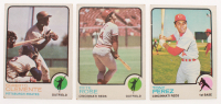 Lot of (3) 1973 Topps Baseball Cards with #50 Roberto Clemente, #130 Pete Rose, & #275 Tony Perez at PristineAuction.com