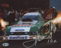 "John Force Signed 8x10 Photo Inscribed ""16x"" (Beckett COA) at PristineAuction.com"