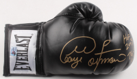 "George Foreman Signed Everlast Boxing Glove Inscribed ""HOF 2003"", ""76-5"" & ""68 KO's"" (Foreman COA) at PristineAuction.com"