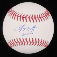 "Chipper Jones Signed OML Baseball Inscribed ""HOF 18"" (Beckett COA) at PristineAuction.com"