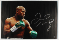 Floyd Mayweather Jr. Signed 25.5x43.5 Photo On Canvas (Beckett COA) at PristineAuction.com