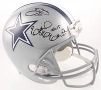Ezekiel Elliott & Emmitt Smith Signed Cowboys Full-Size Helmet (PSA COA & Beckett COA) at PristineAuction.com