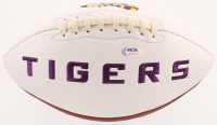 Joe Burrow Signed LSU Tigers Logo Football (PSA COA) at PristineAuction.com