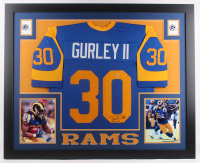 Todd Gurley Signed 35x43 Custom Framed Jersey (Beckett Hologram) at PristineAuction.com