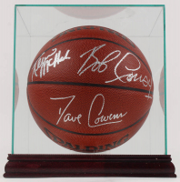 Boston Celtics NBA Basketball Team-Signed by (6) with Kevin McHale, Red Auerbach, Robert Parish, Bob Cousy, Bill Walton, & Dave Cowens with Display Case (JSA ALOA) at PristineAuction.com