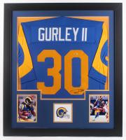 Todd Gurley Signed 31x35 Custom Framed Jersey (Beckett Hologram) at PristineAuction.com