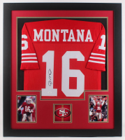 Joe Montana Signed 31x35 Custom Framed Jersey (JSA Hologram) at PristineAuction.com