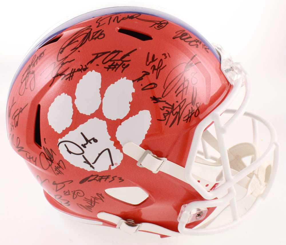 2019  Clemson Tigers Full-Size by Helmet Team-Signed Speed