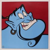 "Genie ""Aladdin"" LE 1997 Walt Disney 23.5x23.5 Lithograph at PristineAuction.com"
