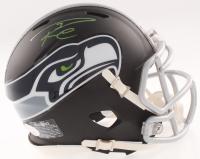 Russell Wilson Signed Seahawks Matte Black Mini Speed Helmet (JSA COA, Wilson Hologram & COA) at PristineAuction.com