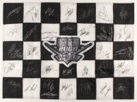 2008 Wheels High Gear NASCAR 20x27 Checkered Flag Signed by (42) with Martin Truex Jr., Jeff Gordon, Dale Earnhardt Jr., Tony Stewart, Kurt Busch, Mark Martin (Press Pass COA) at PristineAuction.com