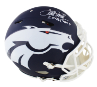 "Terrell Davis Signed Broncos Full-Size Authentic On-Field Speed AMP Helmet Inscribed ""2x SB Champ"" (Radtke COA) at PristineAuction.com"
