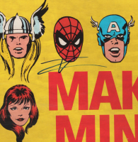 "Tom Holland Signed ""Make Mine Marvel"" 22x34 Poster (JSA COA) at PristineAuction.com"