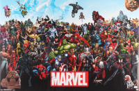 Tom Holland Signed Marvel 22x34 Poster (JSA COA) at PristineAuction.com