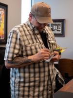 "Kevin Eastman Signed ""Teenage Mutant Ninja Turtles"" - Leonardo - Katana with Hand-Drawn Turtles Sketch (PA COA) at PristineAuction.com"